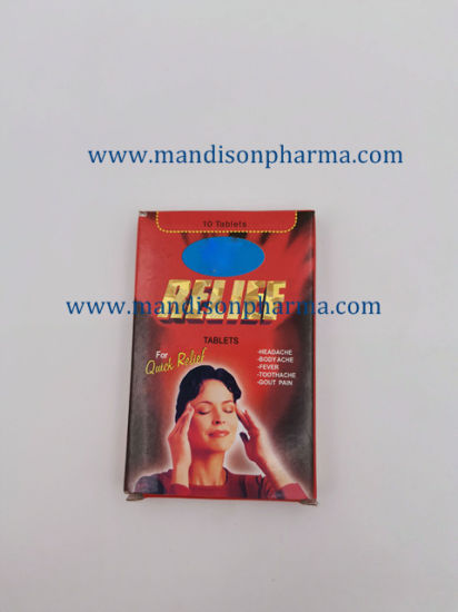 Relief Tablet 10tabs/Box; 10tabs*10/Box GMP Certified Medicine pictures & photos