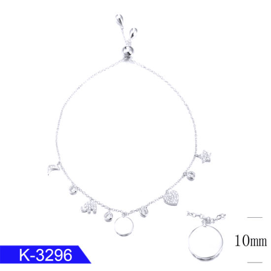 Personalized Fashion Jewelry 925 Sterling Silver CZ Stone Charm Bracelet for Sale pictures & photos