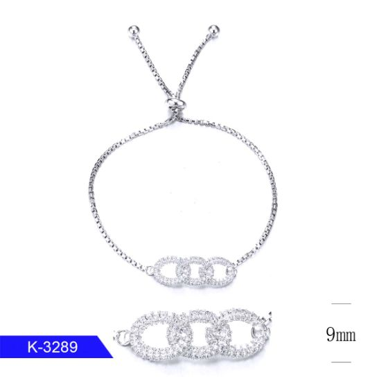 Fashion Jewelry 925 Sterling Silver Cubic Zirconia Stone Bracelet for Girls pictures & photos