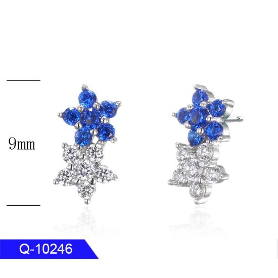 Wholesale Classic Jewellery 925 Silver or Brass Fashion Stud Earrings for Children pictures & photos