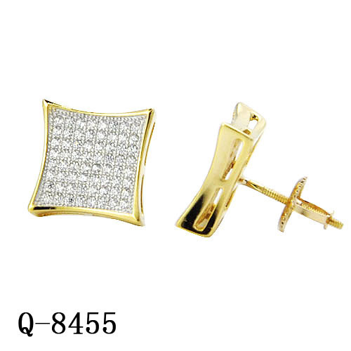 New Arrival Hip Hop Jewelry 925 Sterling Silver Pave Diamond Earrings for Sale pictures & photos