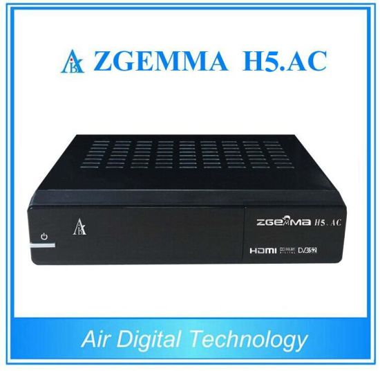 DVB-S2 ATSC HD Digtial TV Receiver Zgemma H5. AC H. 265 Hevc Set Top Box pictures & photos