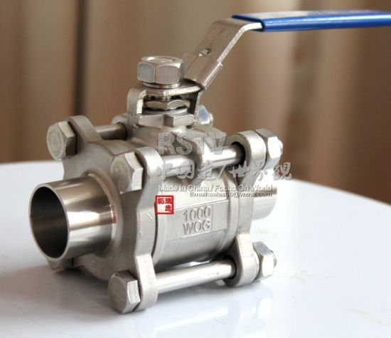 Cast Stainless Steel Butt Welding Manual 3PC Ball Valve pictures & photos