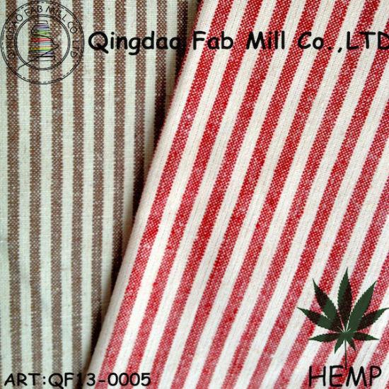 Yarn-Dyed Hemp/Organic Cotton Stripe Fabric (QF13-0005) pictures & photos