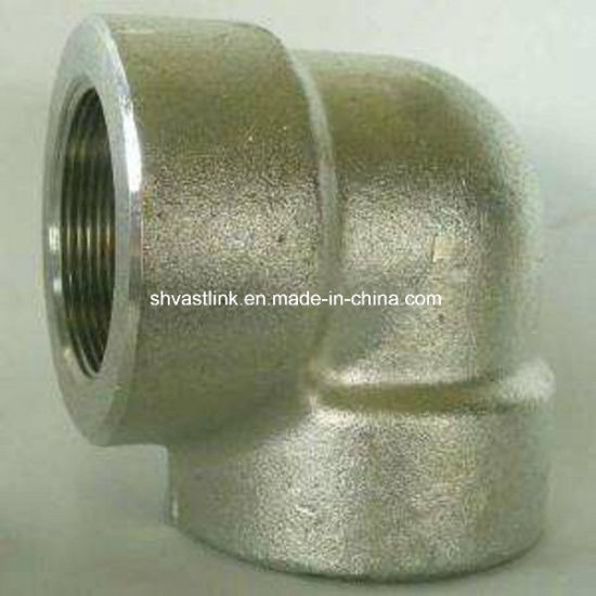 304 Stainless Steel Threaded Pipe Fitting 90 Degree Bend for Pipe Joint pictures & photos