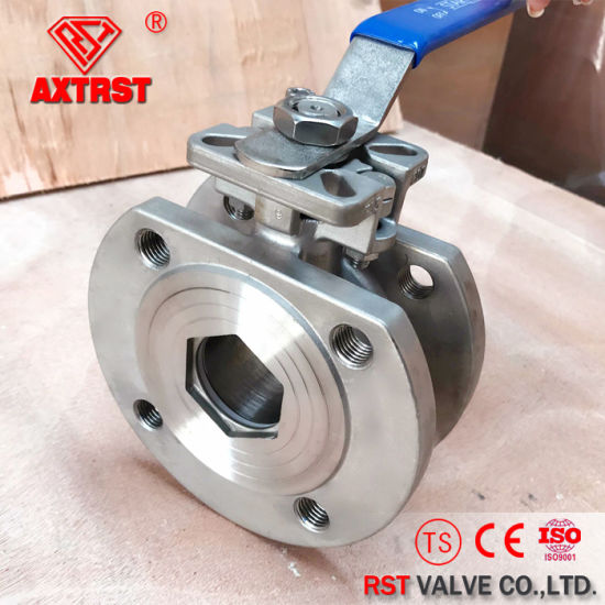 DIN Italian Type Stainless Steel Wafer Ball Valve pictures & photos