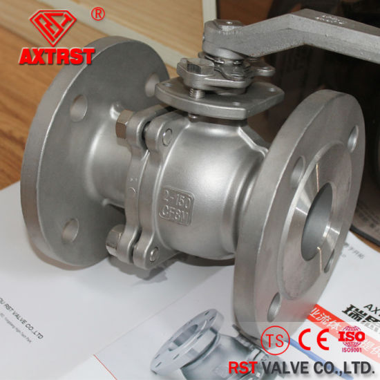API Stainless Steel Floating 2PC Flange Ball Valve pictures & photos