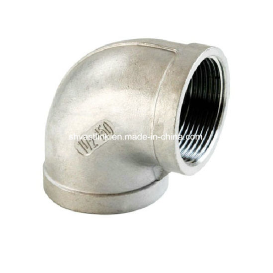 300 Series Stainless Steel Threaded Pipe Fitting 90 Degree Elbow for Pipe Joint pictures & photos