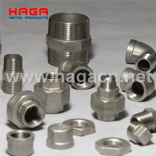 Stainless Steel Threaded Pipe Fittings pictures & photos