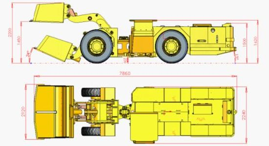 Flame Proof Underground LHD/Fire Proof Underground Load Haul Dumper pictures & photos