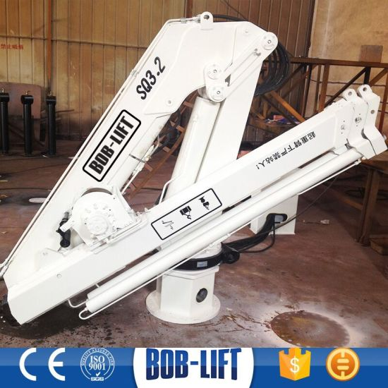 Knuckle Boom Hydraulic Marine Deck Crane for Sale  pictures & photos