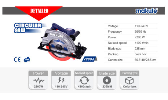 235mm 2200W Premium Quality Circular Saw (CS004) pictures & photos