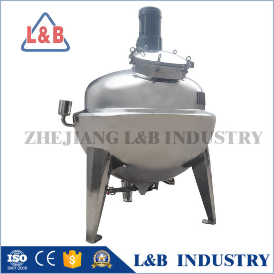 Food Grade Stainless Steel Steam Heating Jacket Kettle pictures & photos