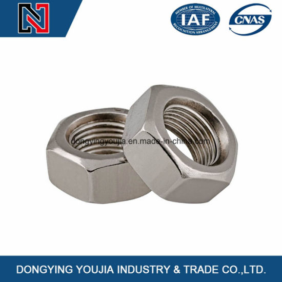Standard M10 Hexagon Nuts with Metric Fine Pitch Thread pictures & photos