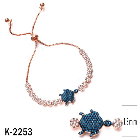 Fashion Jewelry 925 Sterling Silver Cubic Zirconia Stone Tortoise Bracelet for Women pictures & photos