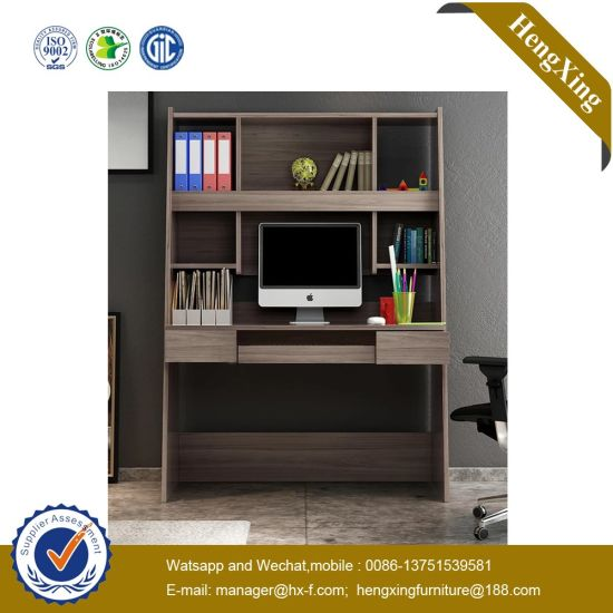 Good Quality Home Hotel Furniture Wooden Study Desk Kids Reading Table with Bookcase pictures & photos