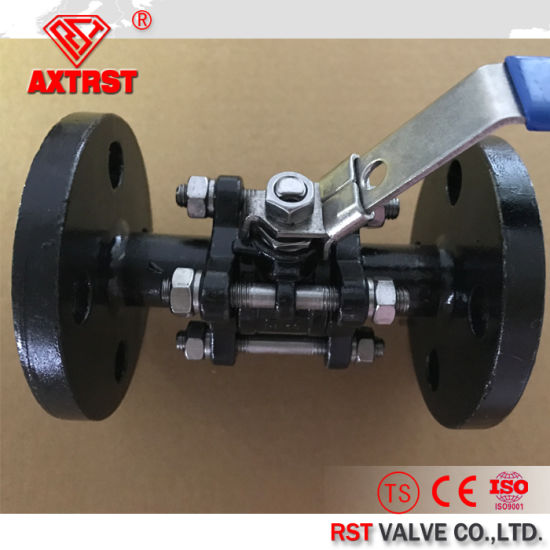 Carbon Steel DIN Pn16 3PC Flanged Ball Valve pictures & photos