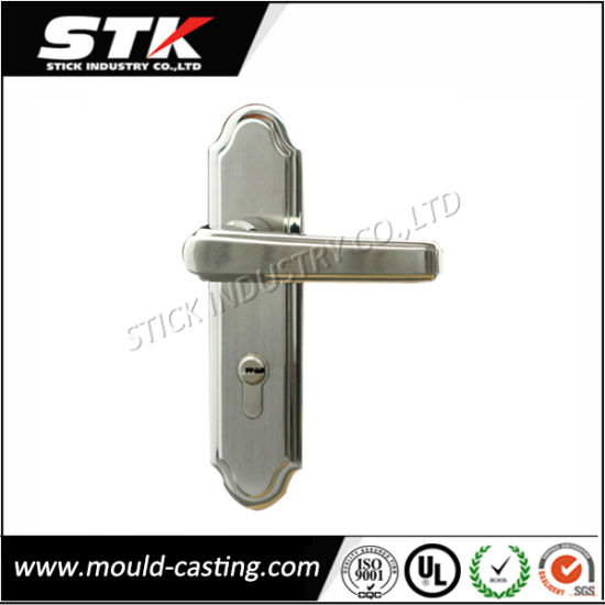 Zinc Alloy Die Casting Door Lever Handle on Plate (ISO, SGS) pictures & photos