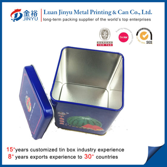 Square Shaped Metal Seed Packaging Box pictures & photos