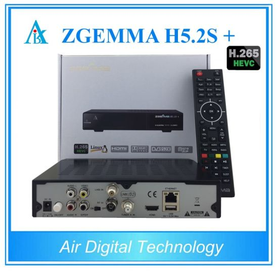 Multistream Decoder Zgemma H5.2s Plus with DVB-S2 + DVB-S2X +DVB-T2/C Three Tuners H. 265 Hevc Satellite Receiver pictures & photos