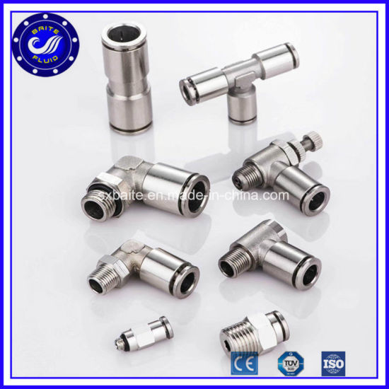 Pneumatic Connector Stainless Steel Push in Fittings Festo Pneumatic Air Fittings pictures & photos