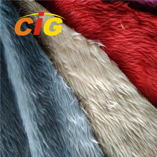 Fashion 100% Polyester Colorful Artificial Fur for Car Seat Cover and Home Textile pictures & photos
