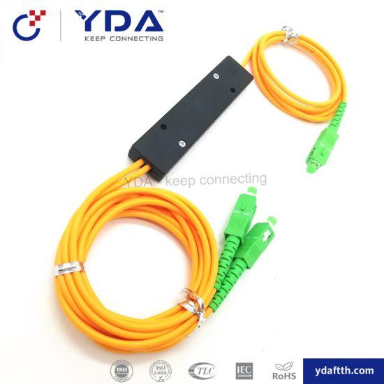 1310/1550nm 1X2 Dual Window FBT Fiber Optic Splitter pictures & photos