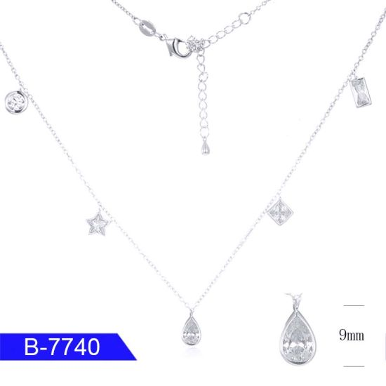 New Design Fashion Jewelry 925 Sterling Silver or Brass Diamond Chain Necklace for Sale pictures & photos