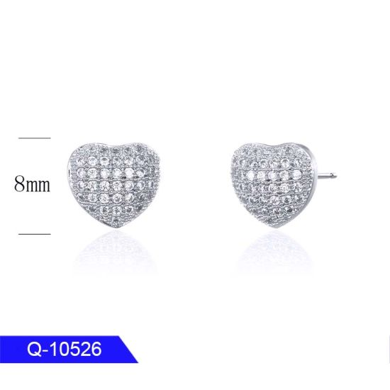 Wholesale New Arrival Iced out Jewelry 925 Sterling Silver Cubic Zirconia Earrings for Man pictures & photos