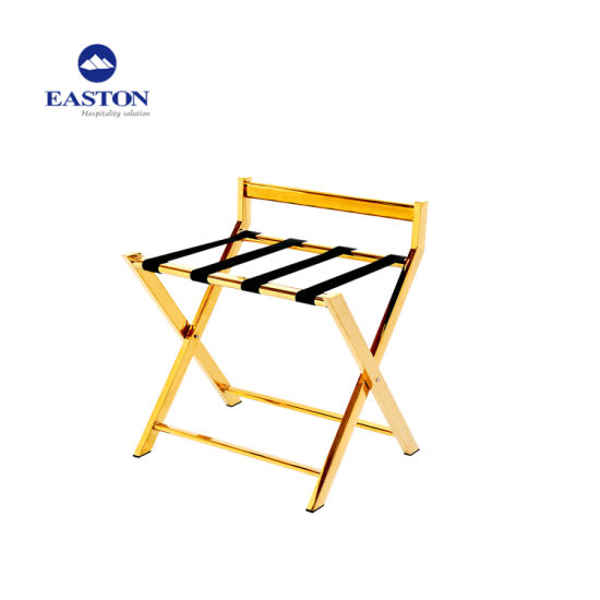 Hotel Gold Stainless Steel Luggage Rack pictures & photos