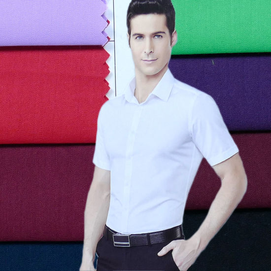 100%Polyester Shirt Fabric for Man Garment pictures & photos