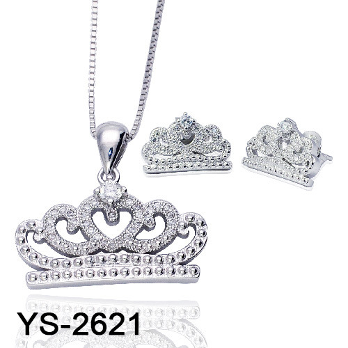 925 Sterling Silver Fashion Crown Jewelry Set for Sale pictures & photos