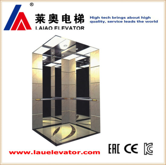 vvvf drive gearless traction machine passenger elevator with