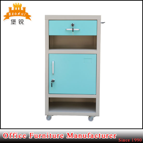 Jas-109 Hospital Stainless Steel Bedside Cabinet Optional with Casters pictures & photos