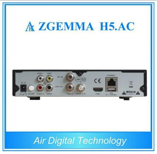 ATSC Digital TV Receiver Zgemma H5. AC with Enigma2 Linux OS Support Hevc H. 265 pictures & photos