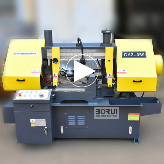 GHz350 Angle Cut 45 Degree Band Saw Machine Cutting Horizontal Metal Band Saw pictures & photos