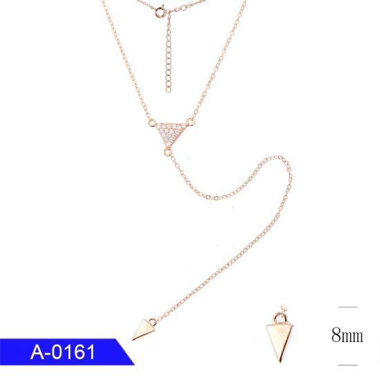 Wholesale New Fashion Jewelry 925 Sterling Silver Cubic Zirconia Long Necklace for Women pictures & photos