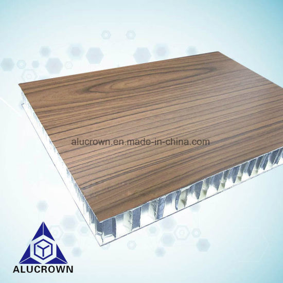 Wood Grain Aluminum Honeycomb Panel for Interior and Exterior Wall Cladding pictures & photos