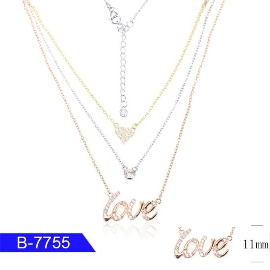 Wholesale Fashion Jewelry 925 Silver CZ Diamond Necklace for Women pictures & photos