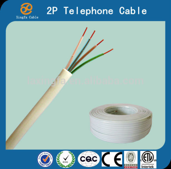 4c Jacket PVC Outdoor Telephone Cable pictures & photos