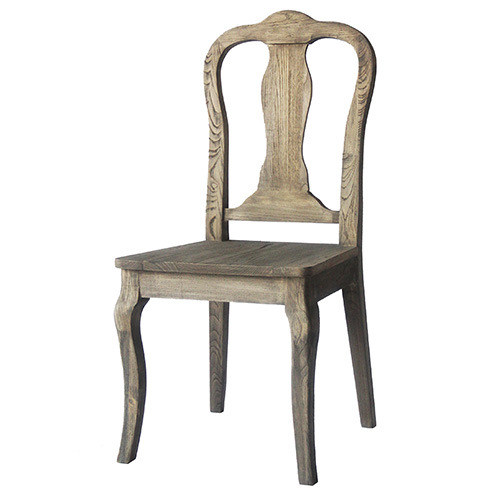 Kvj-9036 Antique Vintage Oak Solid Wood Dining Chair pictures & photos