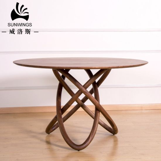 Solid Wood Round Dining Table / Star Model pictures & photos