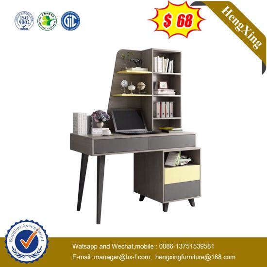 Simple Grey Living Furniture Computer Desk Combination Bookshelf with Drawers pictures & photos