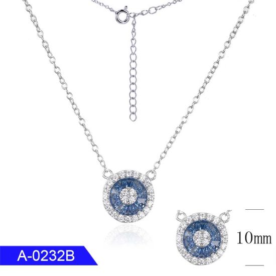 Fashion Jewelry 925 Sterling Silver or Brass Cubic Zirconia Necklace for Sale pictures & photos