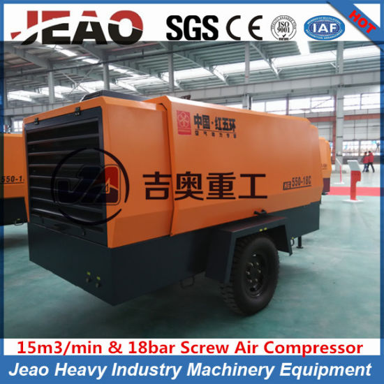 Brand New Style Mining Quarry Portable Diesel Screw Air Compresasor/Road Construction Diesel Screw Air Compressor pictures & photos