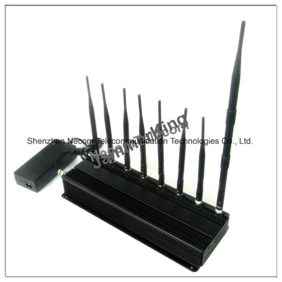 8 Antennas Blockers Jamming for 2g+3G+2.4G+Lojack+Gpsl1+VHF+UHF, Adjustable Cell Phone GPS WiFi Jammer pictures & photos