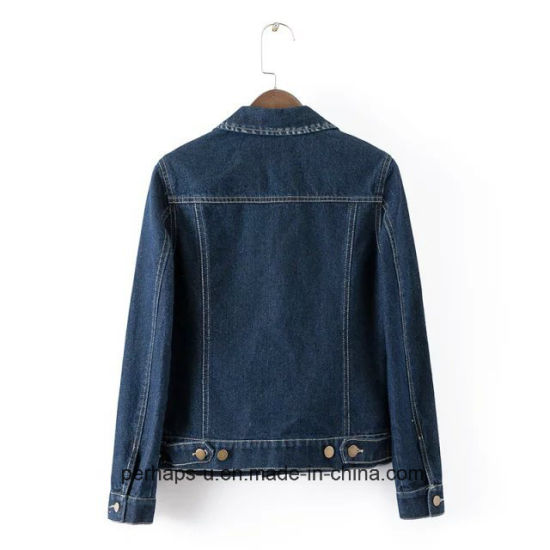 Retro and Sexy Female Denim Jacket Wholesale pictures & photos
