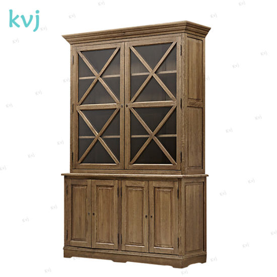 Kvj-7329 Vintage Reclaimed Solid Wood Standing Storage Cabinet pictures & photos