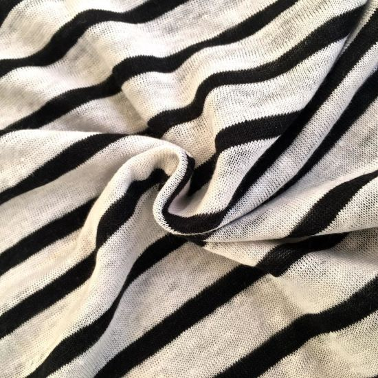 Linen Knitted Stripe Fabric (QF14-1546-SS) pictures & photos