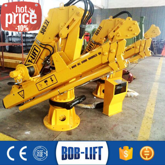 Hydraulic Boom Marine Pedestal Deck Ship Crane for Sale pictures & photos
